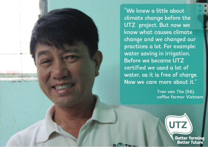 UTZ coffee farmer quote Tran-van-Tho Vietnam