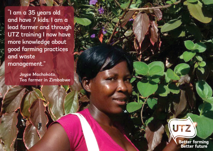 UTZ tea farmer quote Joyce Machokoto Zimbabwe