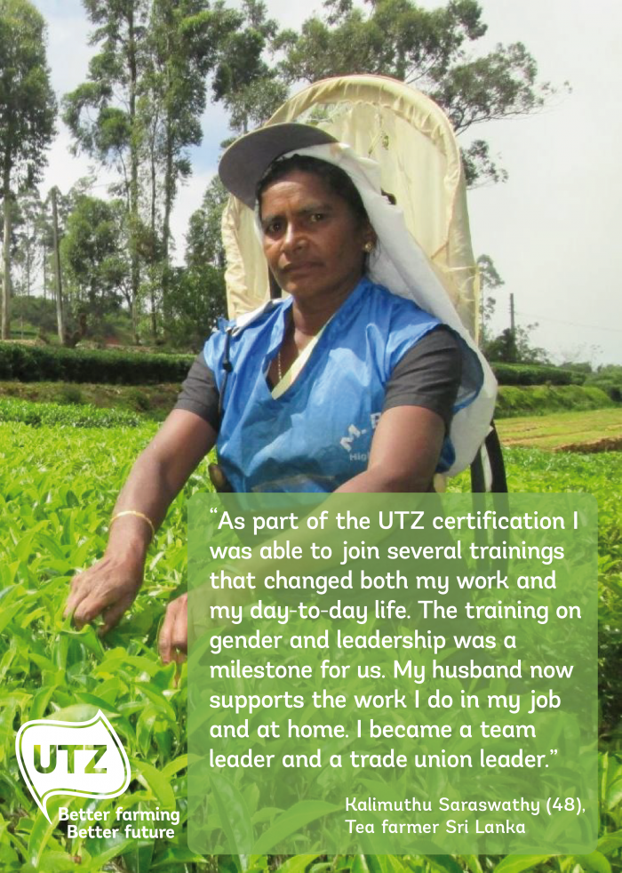 UTZ tea farmer quote Kalimuthu Saraswathy Sri Lanka