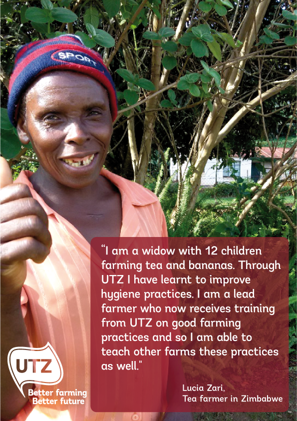 UTZ tea farmer quote Lucia Zari from Zimbabwe