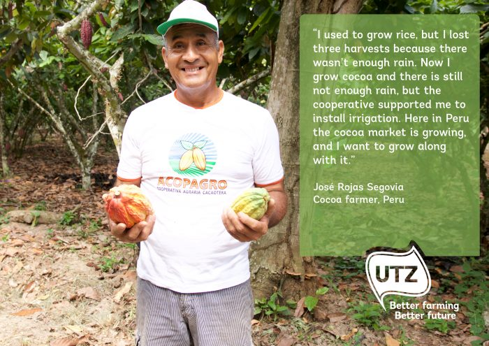 Quote from UTZ certified cocoa farmer José Rojas Segovia from Peru