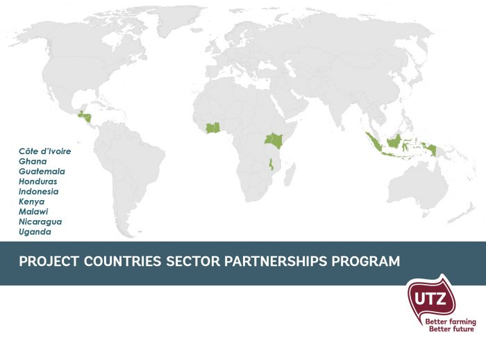 Project countries UTZ Sector Partnerships program
