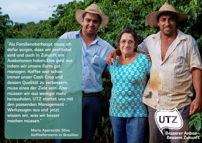 Quote UTZ coffee farmer Maria Aparecida Silva Brazil (German)