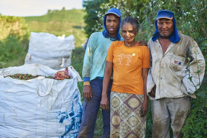 Jonas, Luzita and Adão de Souza, coffee workers in Brazil