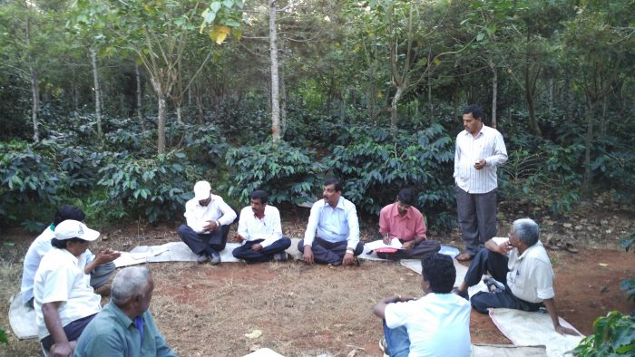 Member meeting of the Western Ghats Sustainable Farming Consortium in India