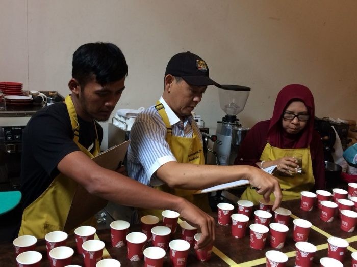 Coffee masters training by SCOPI in Indonesia