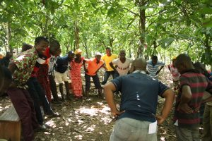Group energizer by Associated Trainer Kouamé Emmanuel KOUAKOU